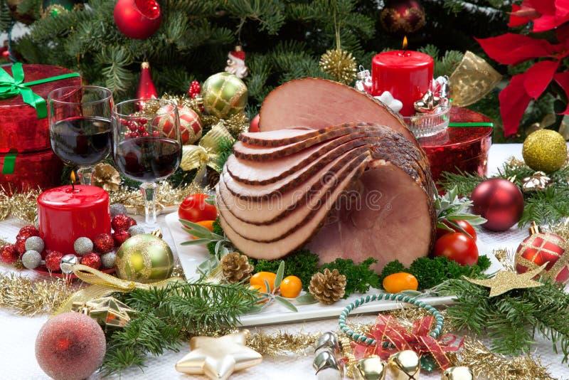 Jul glasade skinka fotografering för bildbyråer
