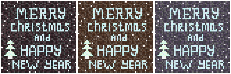 Jul grånar den skriftliga mosaiken för bakgrund royaltyfri illustrationer