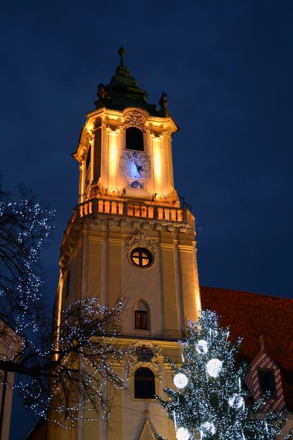 Jul i Bratislava arkivbild