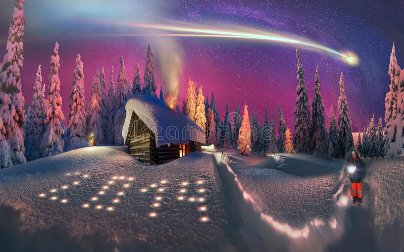 Jul i Carpathiansna royaltyfria bilder