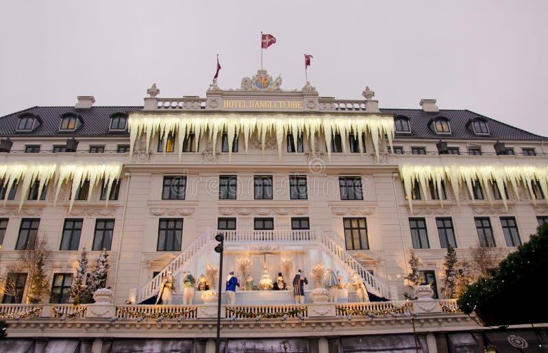 Jul i Köpenhamnhotelld'Angleterre arkivfoton