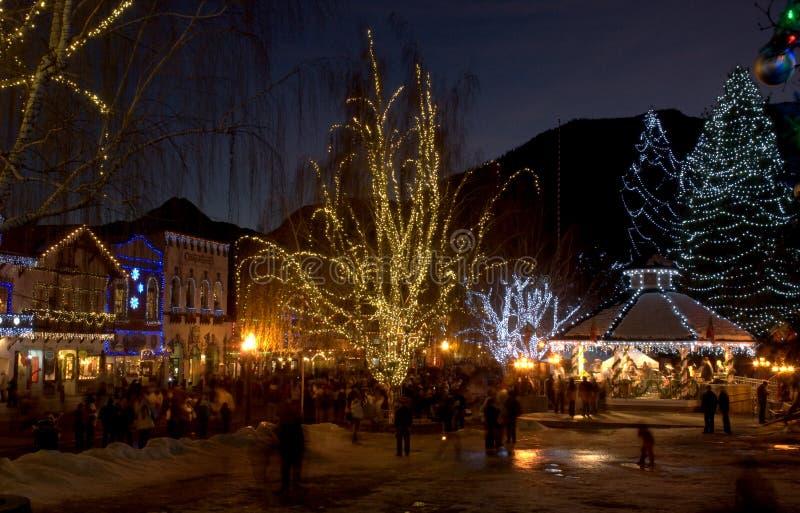 Jul i Leavenworth, WA royaltyfria foton