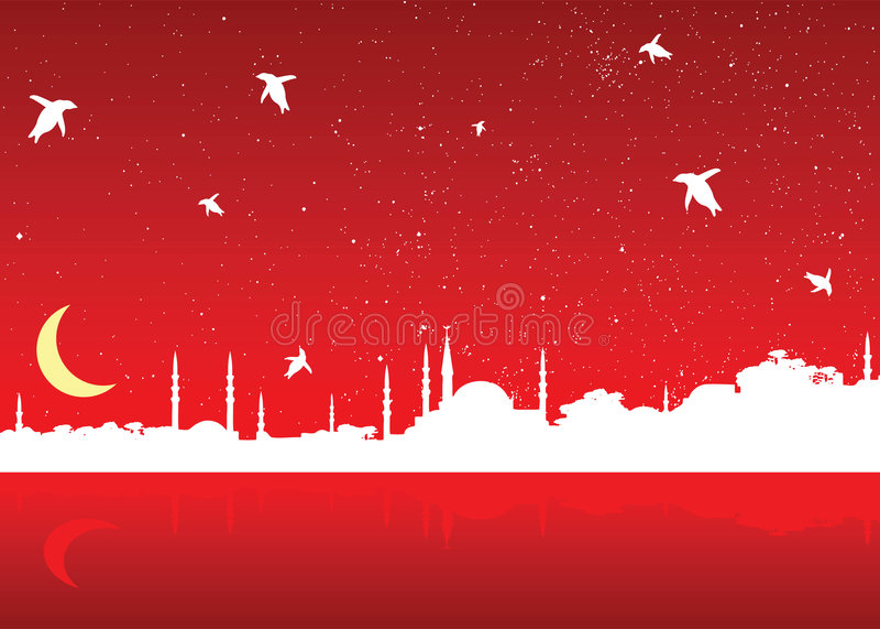 jul istanbul stock illustrationer