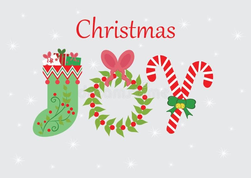 Jul Joy Card royaltyfri fotografi