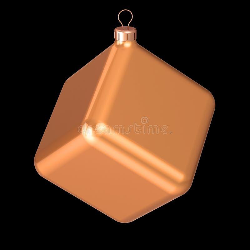 Jul klumpa ihop sig garnering för struntsaken för helgdagsaftonen för ` s för det nya året för kuben icke-standard udda vektor illustrationer
