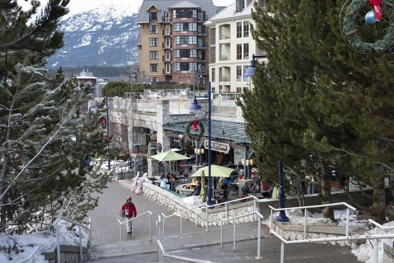 Jul kryddar på Whistlerbyn, Whistler, British Columbia royaltyfria bilder