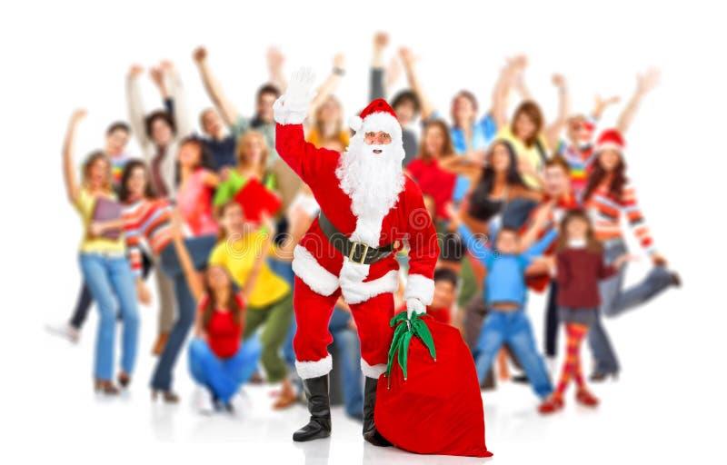 jul lyckliga santa royaltyfri bild