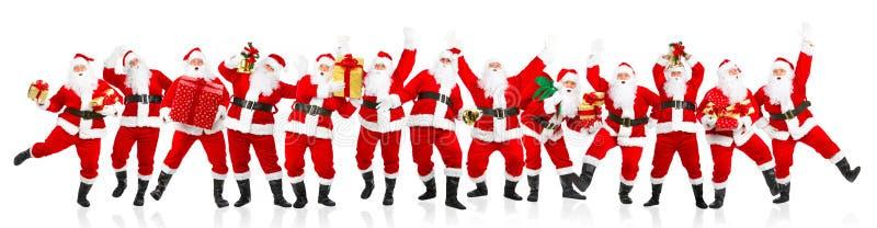 jul lyckliga santa arkivfoto