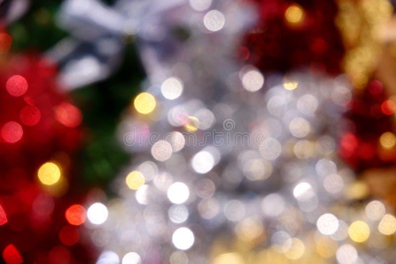 Jul lyckligt nytt år för bakgrund Festlig xmas-abstrakt begreppbakgrund med defocused ljus för bokeh royaltyfri fotografi