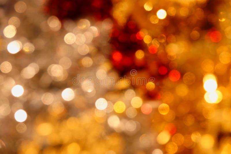 Jul lyckligt nytt år för bakgrund Festlig xmas-abstrakt begreppbakgrund med defocused ljus för bokeh royaltyfria bilder