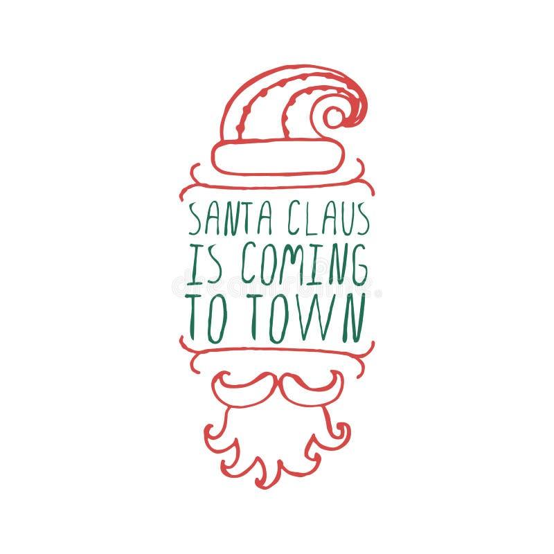 Jul märker med text på vit bakgrund royaltyfri illustrationer