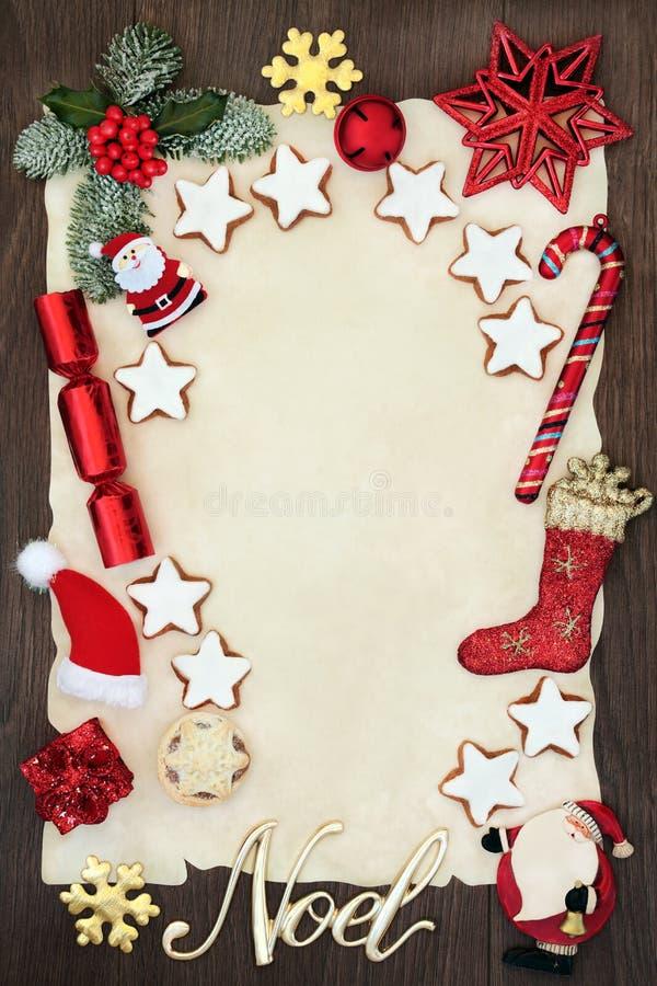Jul märker till jultomten eller inbjudan royaltyfri fotografi