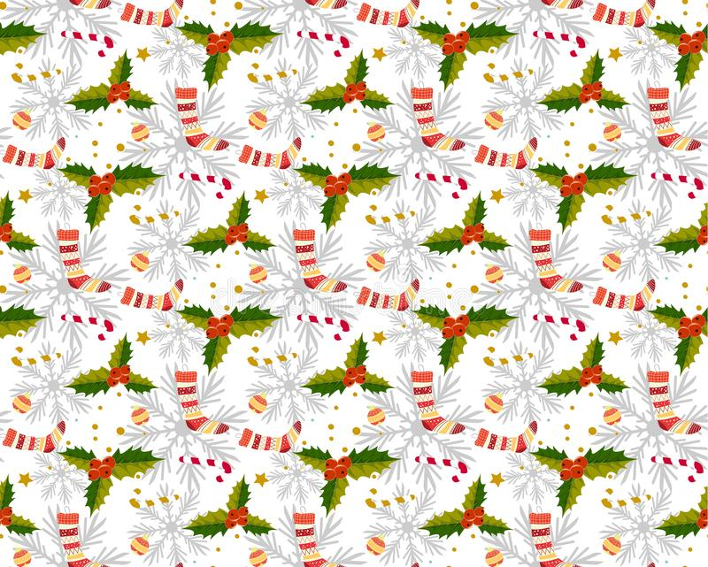 Jul mönstrar sömlöst s royaltyfri illustrationer