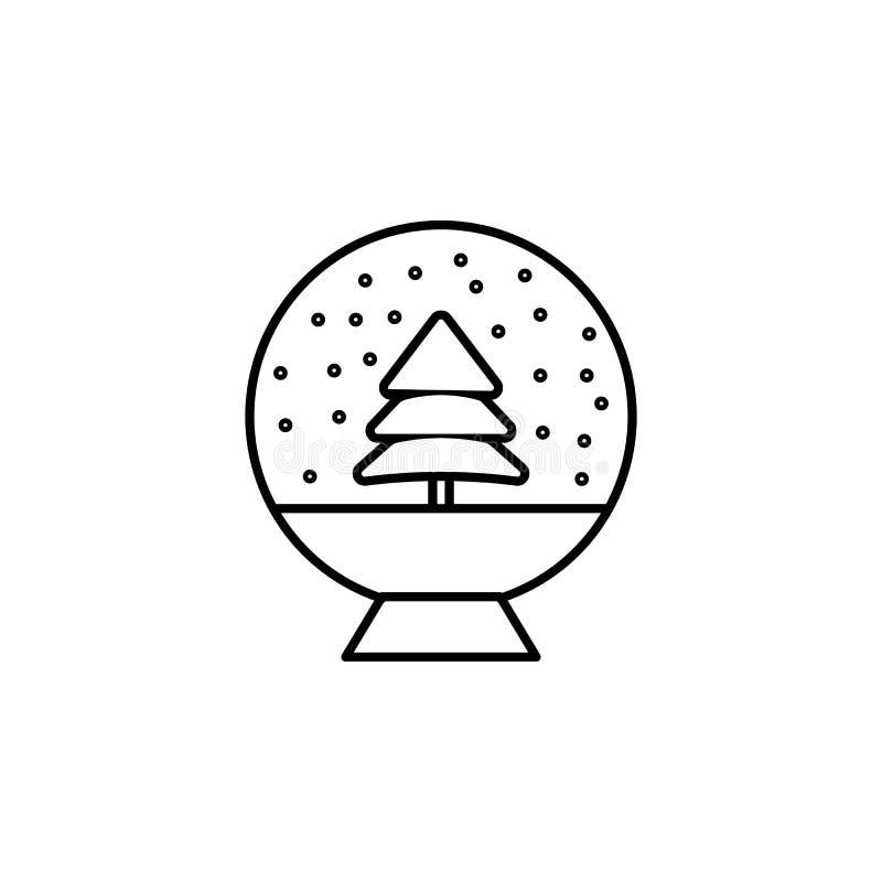 Jul magisk bollöversiktssymbol Beståndsdel av illustrationen för nytt år Högvärdig kvalitets- symbol för grafisk design Tecken oc vektor illustrationer
