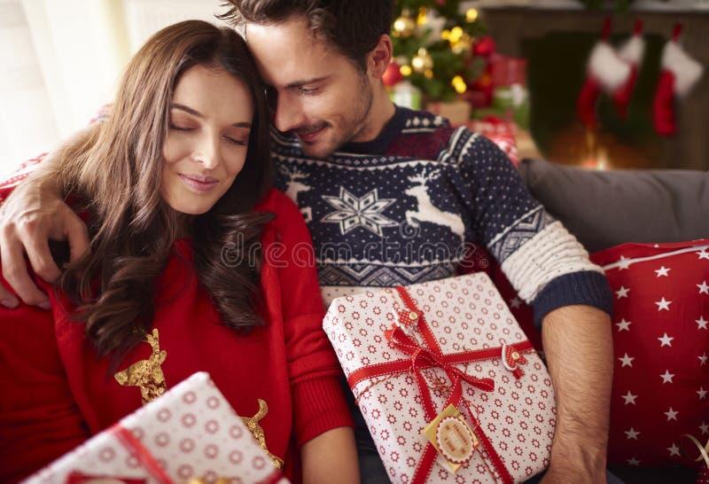 Jul med förälskelse royaltyfria bilder