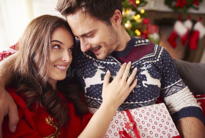 Jul med förälskelse fotografering för bildbyråer