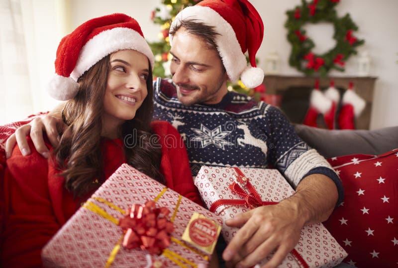 Jul med förälskelse arkivfoton