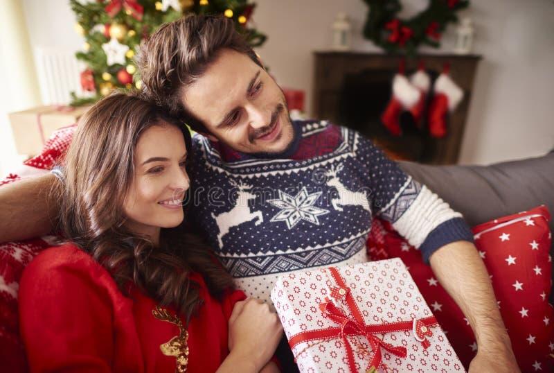 Jul med förälskelse arkivbilder