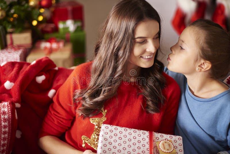 Jul med familjen arkivbilder