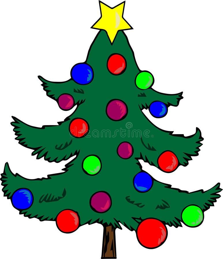 jul min version för portföljtreevektor nytt år Jul arkivfoto