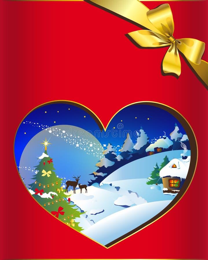 Jul nytt år, bakgrund royaltyfri illustrationer