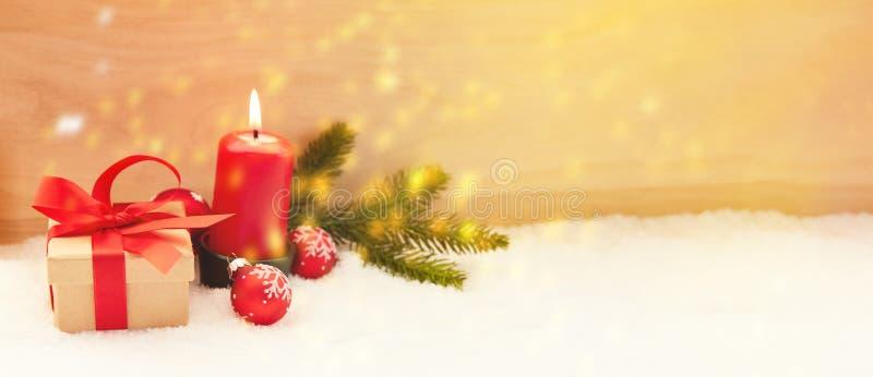 Jul- och Adventtitelrader med stearinljuset royaltyfria foton