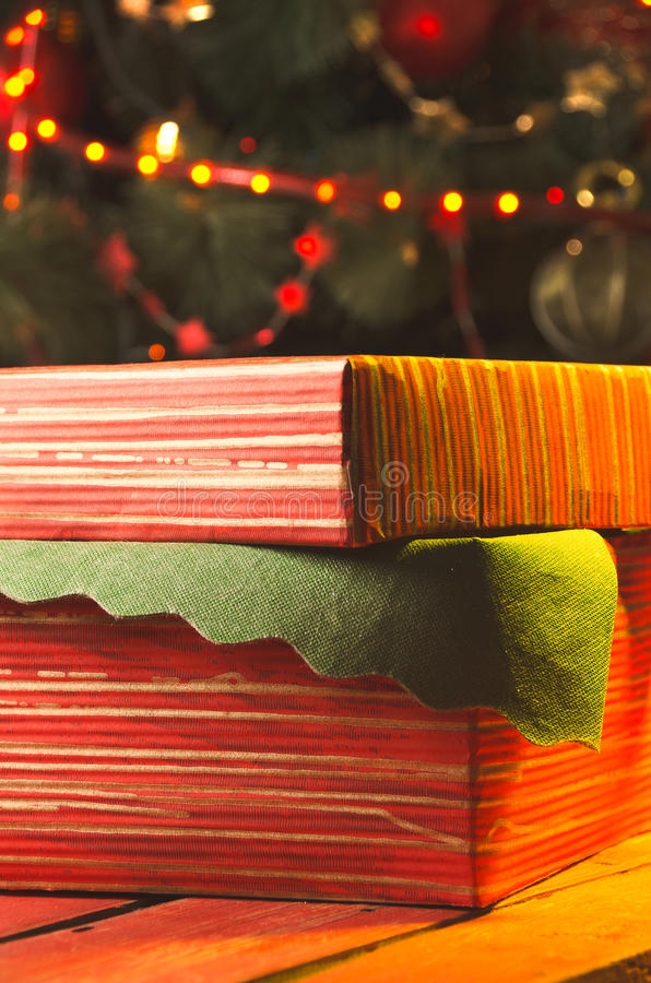 Jul och ferier presents arkivfoto