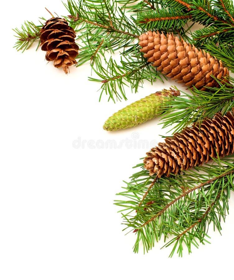 Jul och hörn för nytt år arkivbild