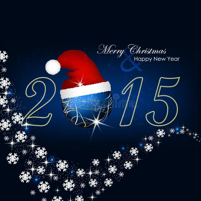 Jul och lycklig bakgrund för nytt år vektor illustrationer