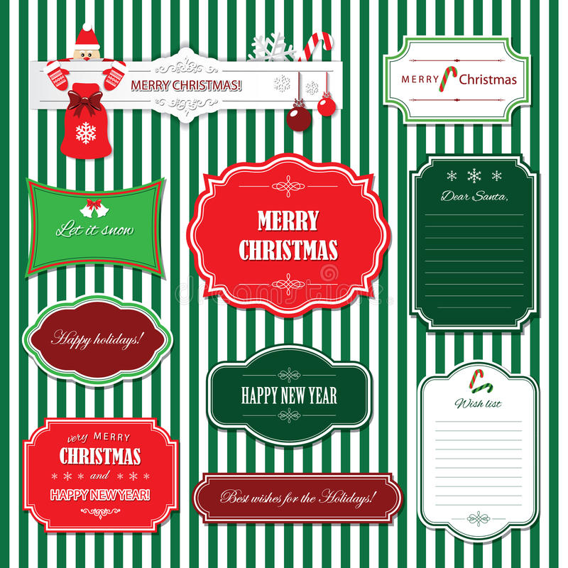 Download Jul Och Ramar Och Baner För Lyckligt Nytt år Stock Illustrationer - Illustration av dekorativt, bokstav: 76700390