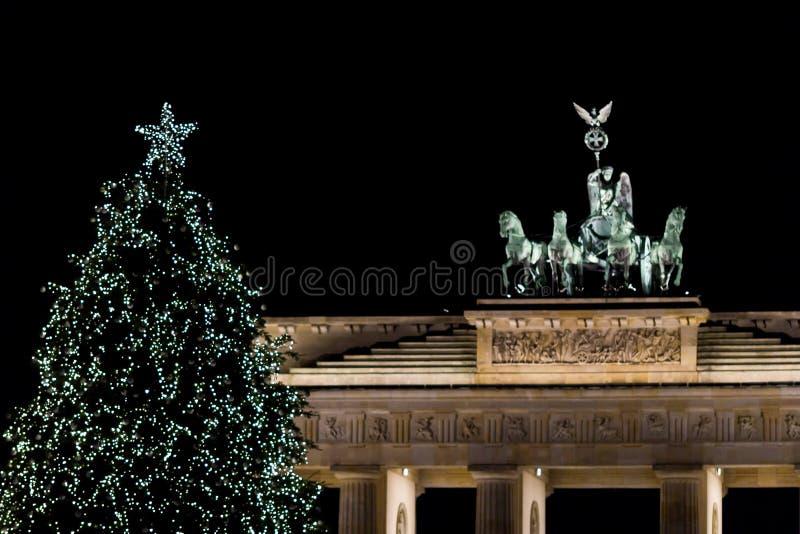 Jul på Brandenburg arkivfoto