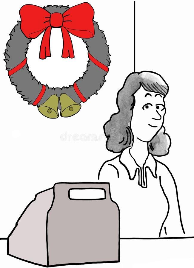 Jul på detaljhandel vektor illustrationer
