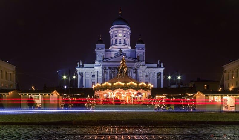 Jul på senatfyrkanten royaltyfria bilder