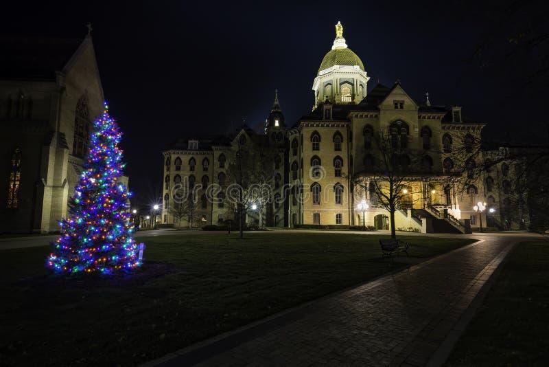Jul på universitetet av Notre Dame arkivbilder