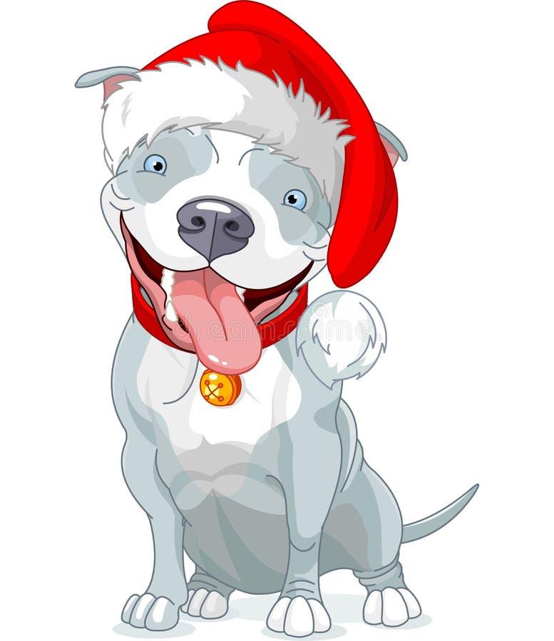 Jul Pit Bull Dog vektor illustrationer