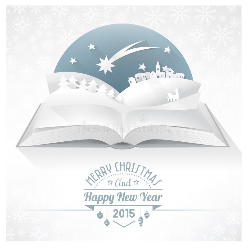 Jul poppar upp boken royaltyfri illustrationer