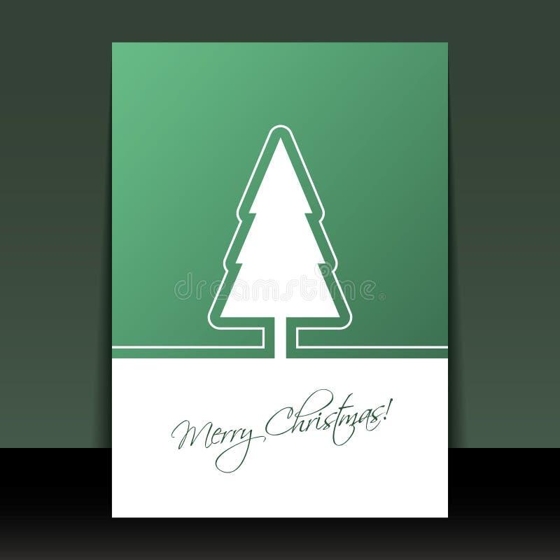 Jul reklamblad eller räkningsdesign stock illustrationer