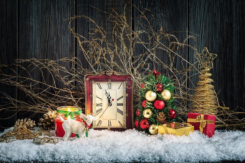 Jul returnerar garneringar royaltyfri foto