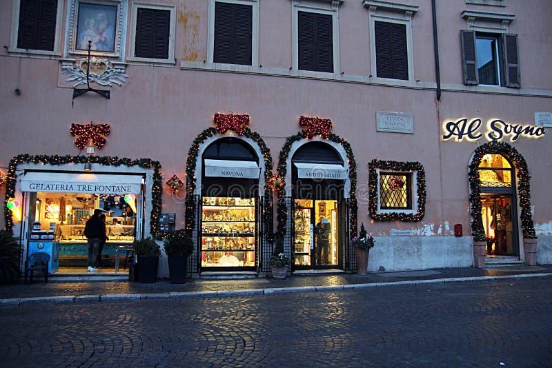 Jul shoppar rome arkivfoto