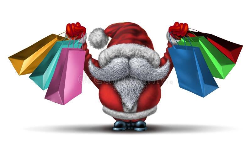 Jul Shopping spree royaltyfri illustrationer