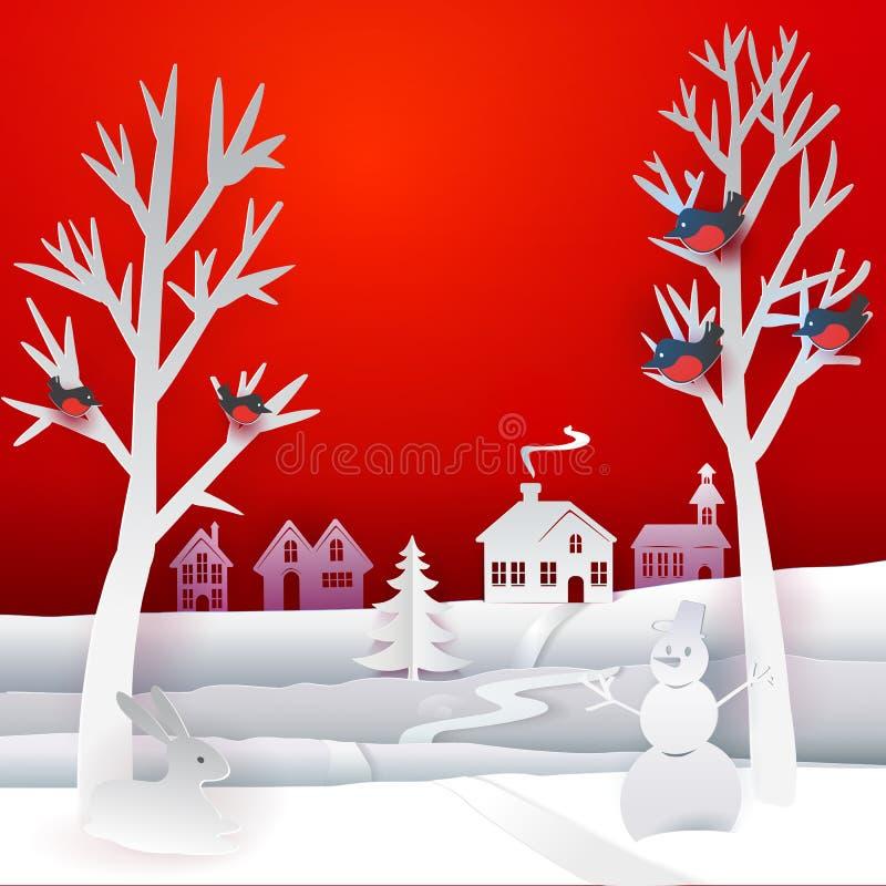 Jul skyler över brister banret stock illustrationer