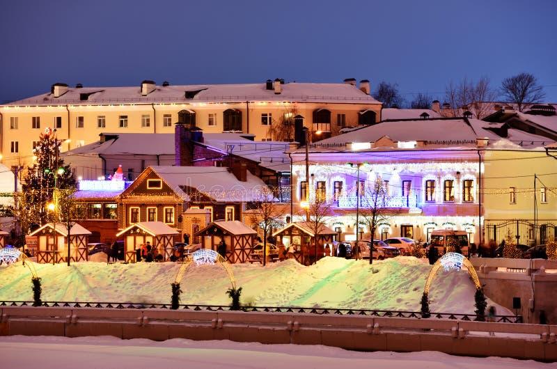 Jul som är felik i Kazan, Ryssland arkivfoto