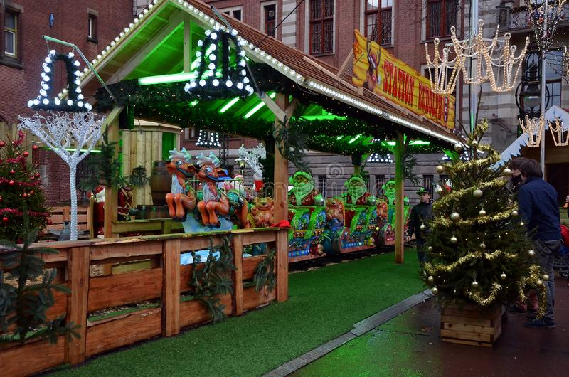 Jul som är ganska i Amsterdam arkivbilder