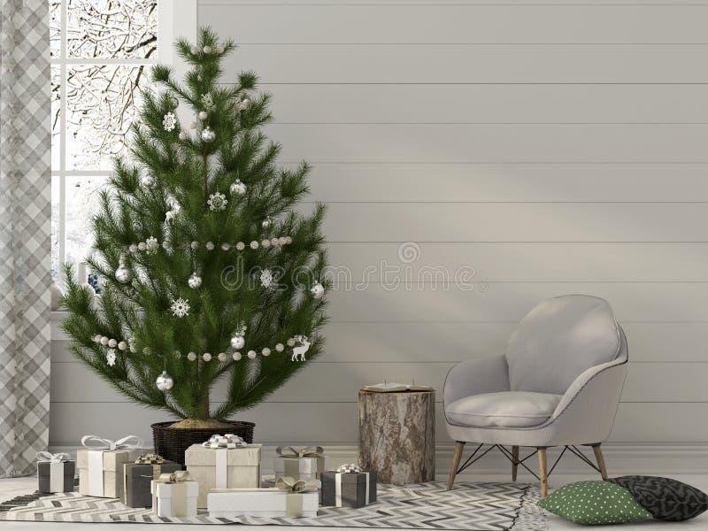 Jul som är inre i beigea signaler stock illustrationer