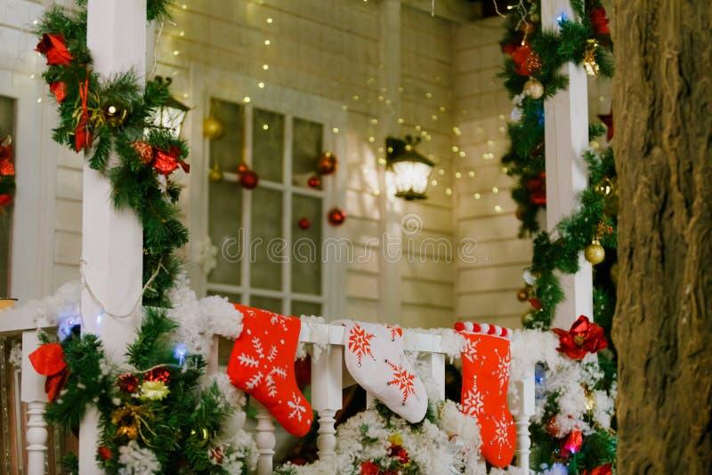 Jul som är inre på terrassen royaltyfria foton