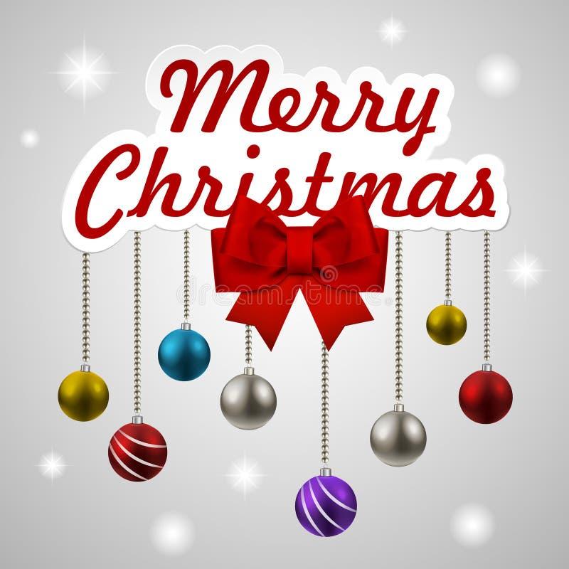 Jul som dekorerar beståndsdeluppsättningen stock illustrationer