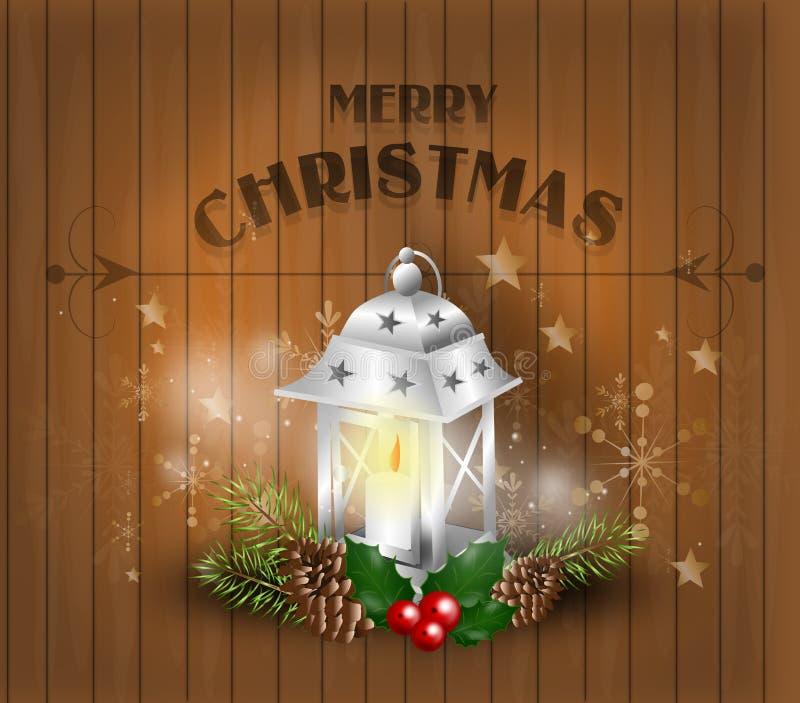 Jul som hälsar bakgrund stock illustrationer