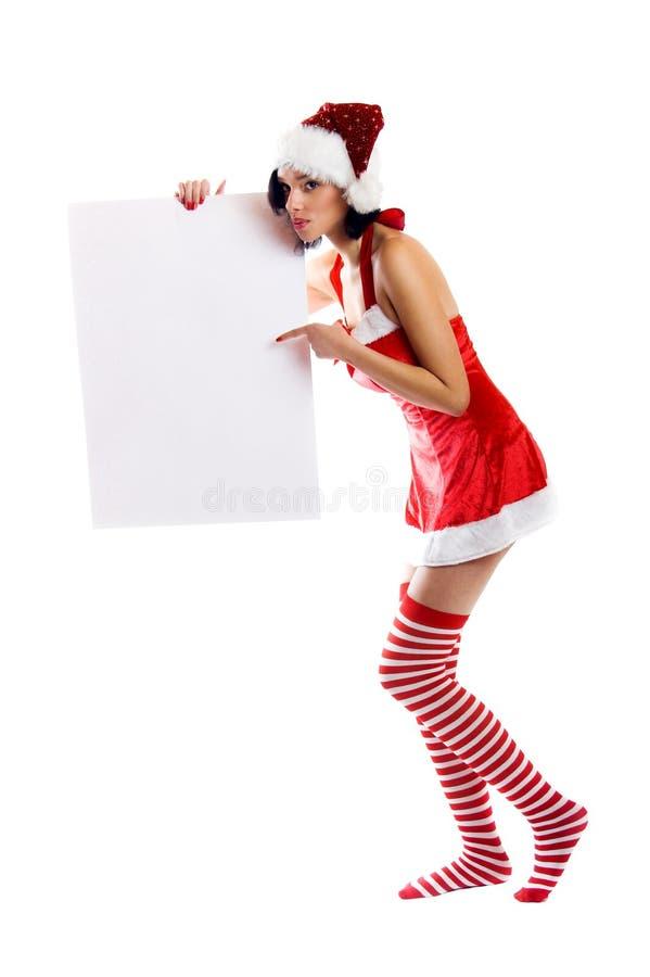 jul som ler kvinnan royaltyfri bild