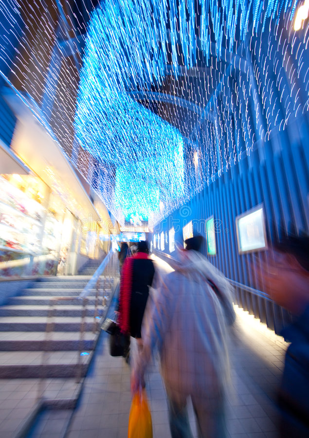 jul som tänder shopping royaltyfria foton