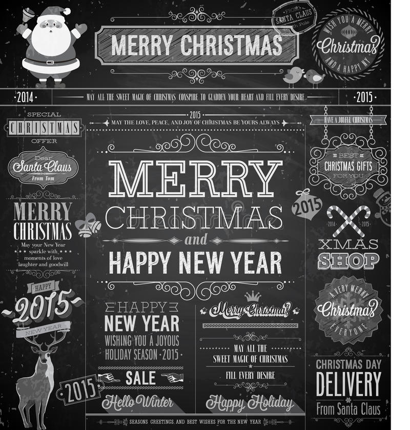 Jul ställde in - etiketter royaltyfri illustrationer